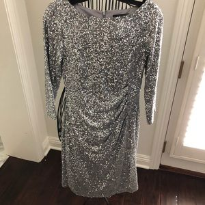Sequin silver dress